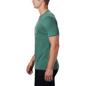 Columbia Path Lake Graphic T-shirt Herrer, thyme green round bound